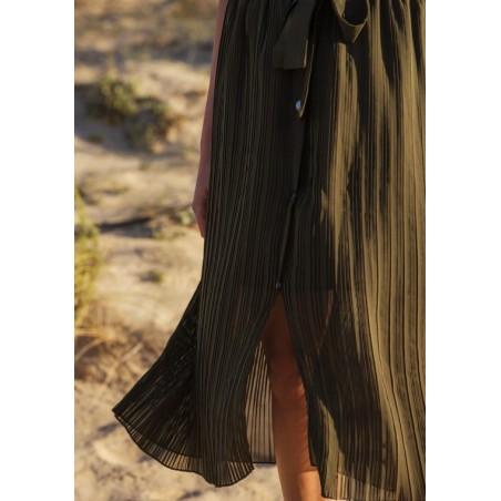 Jupe longue plissée Solange