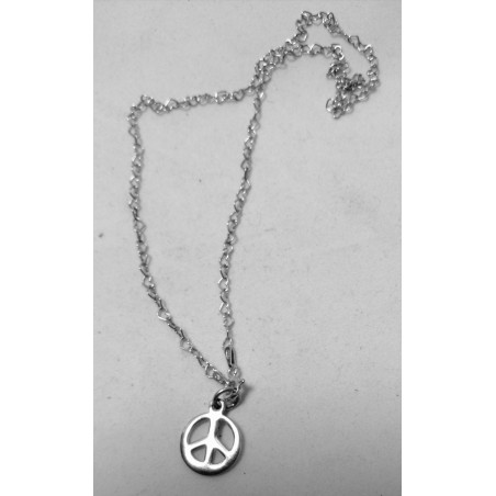 Fine chaîne et Pendentif Peace and Love