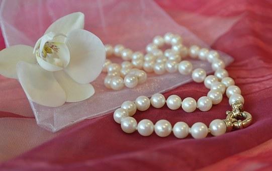 Collier femme perle